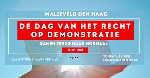 Verboden of niet, viruswaanzin.nl is aanstaande zondag op het malieveld