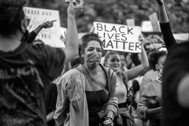 Enkele honderden demonstranten bij Black Lives Matter demonstratie