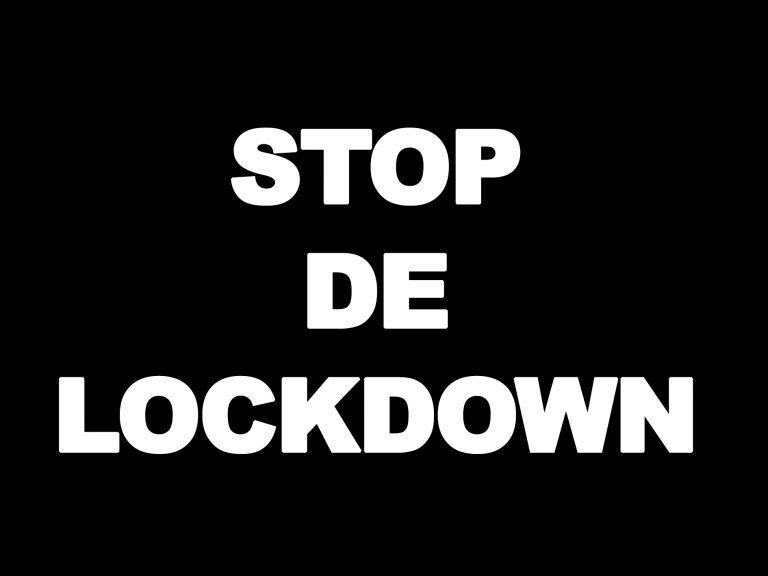 Schandalig!! Stop de lockdown protest zondag mag niet door gaan